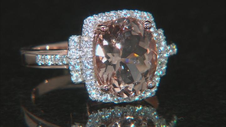 Pink Morganite 10k Rose Gold Ring 3.23ctw