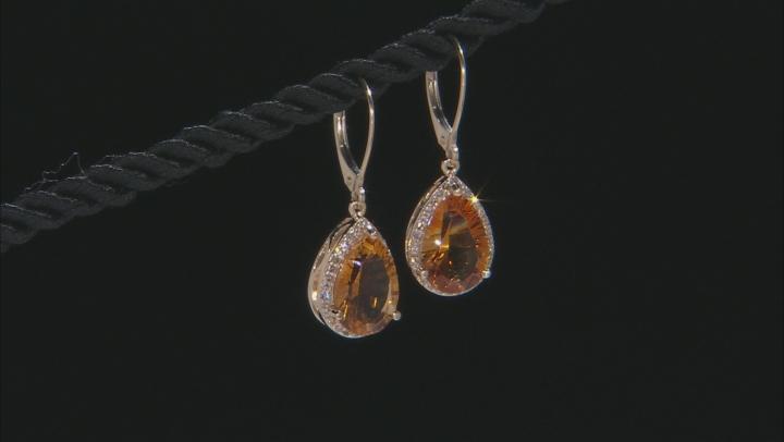 Golden Citrine 10k Yellow Gold Earrings 4.70ctw
