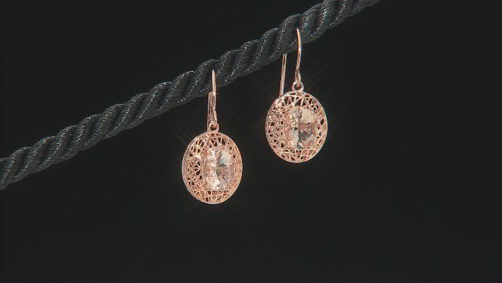 Peach Cor-de-Rosa Morganite™ 10k Rose Gold Earrings 1.87ctw