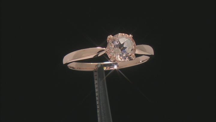 Pink Morganite 10k Rose Gold Ring 0.64ctw