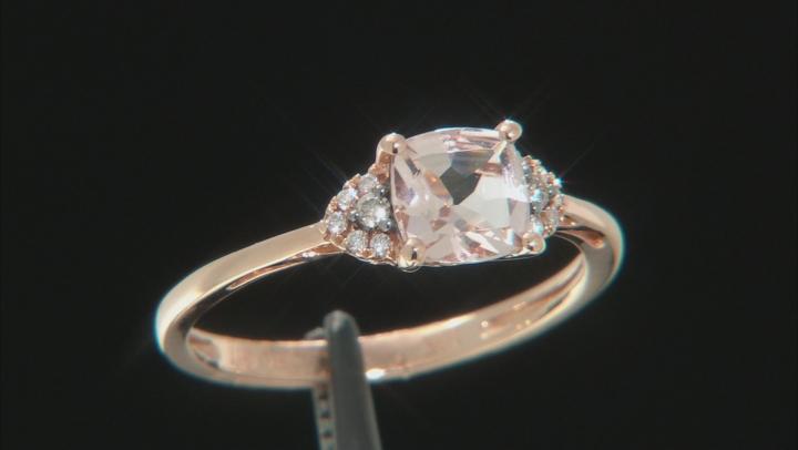 Pink Cushion Cor-de-Rosa Morganite™ 10k Rose Gold Ring 0.91ctw