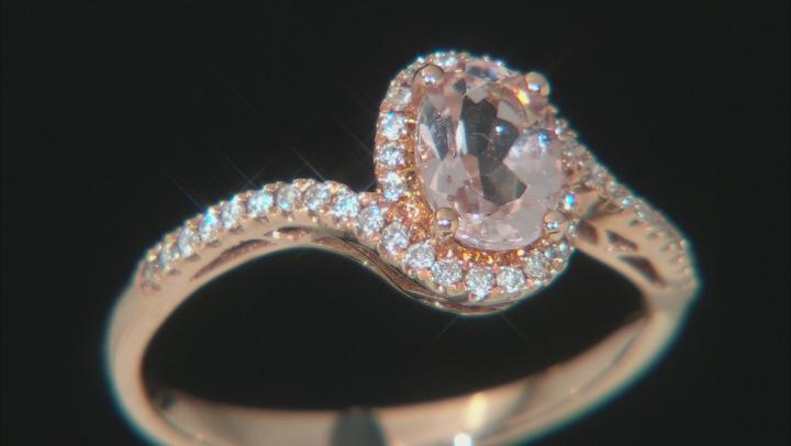 Pink Cor-de-Rosa Morganite™ 10k Rose Gold Ring 0.85ctw