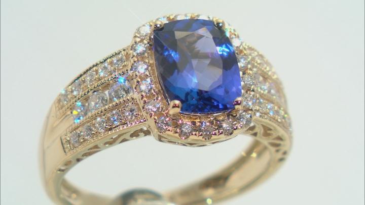 Blue Tanzanite 14k Yellow Gold Ring 2.27ctw