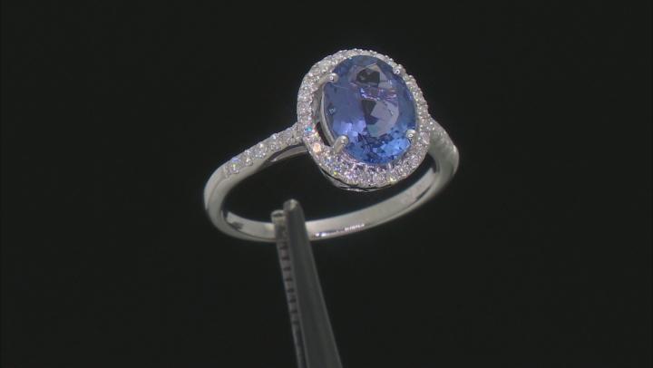 Blue Tanzanite Rhodium Over 14k White Gold Ring 1.90ctw