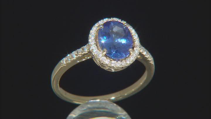 Blue Tanzanite 14k Yellow Gold Ring 1.90ctw