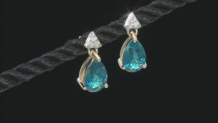Blue Topaz 10k Yellow Gold Earrings 2.80ctw