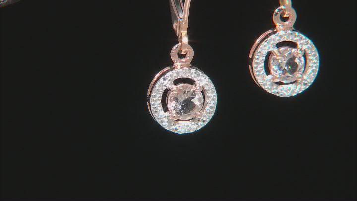 Peach Morganite 10K Rose Gold Earrings 0.40ctw