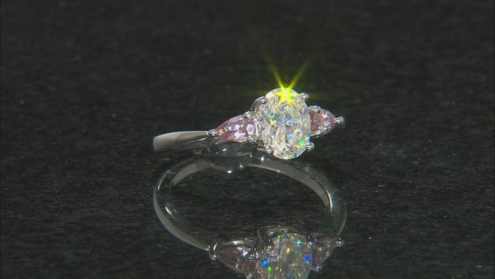 Fabulite Strontium Titanate and Color Change Garnet Ring 1.95ctw