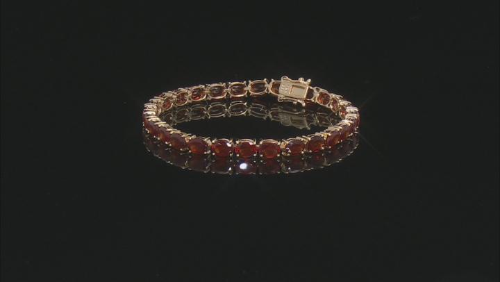 Red Hessonite Garnet 18k yellow gold over silver bracelet 23.25ctw