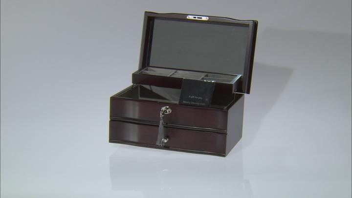 Locking Jewelry Box in Mahogany Finish