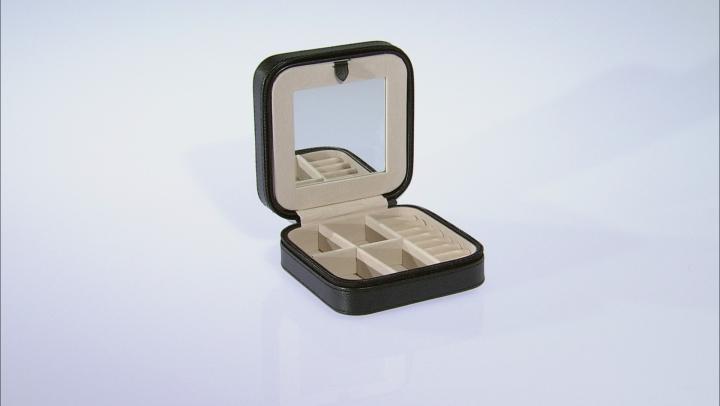 Travel Jewelry Box Dana in Faux Leather in Black
