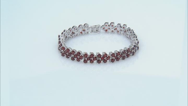 Red Garnet Rhodium Over Silver Bracelet 19.76ctw