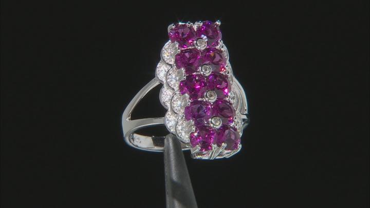 Purple rhodolite rhodium over sterling silver ring 2.94ctw