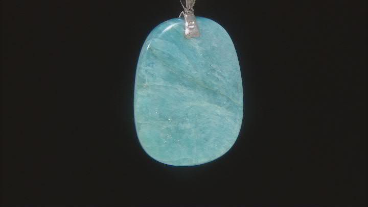 Blue Dreamy Aquamarine Rhodium Over Silver Enhancer