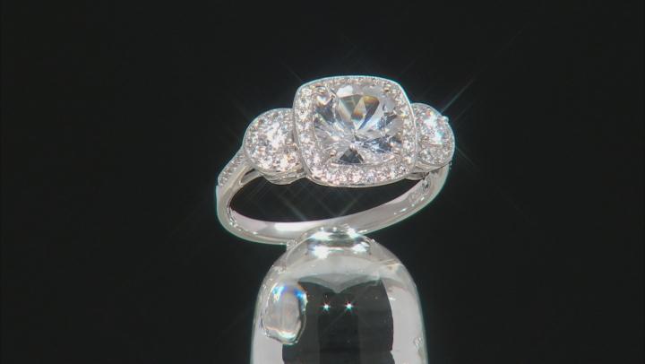 White Danburite 10k White Gold Ring 2.85ctw