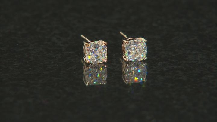 White Fabulite Strontium Titanate 10k Yellow Gold Earrings 2.46ctw