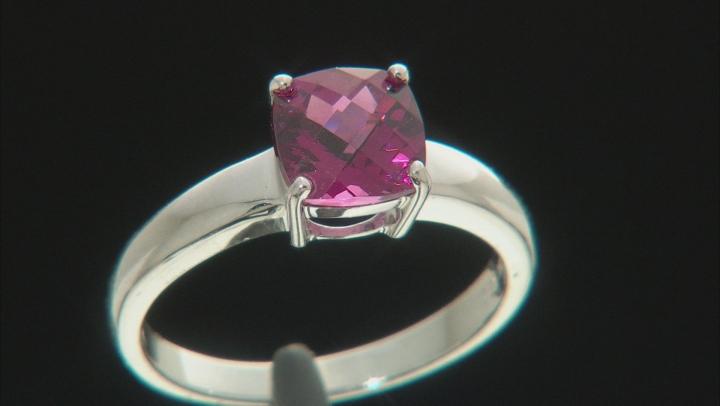 Grape Color Garnet 10k White Gold Ring 1.45ct