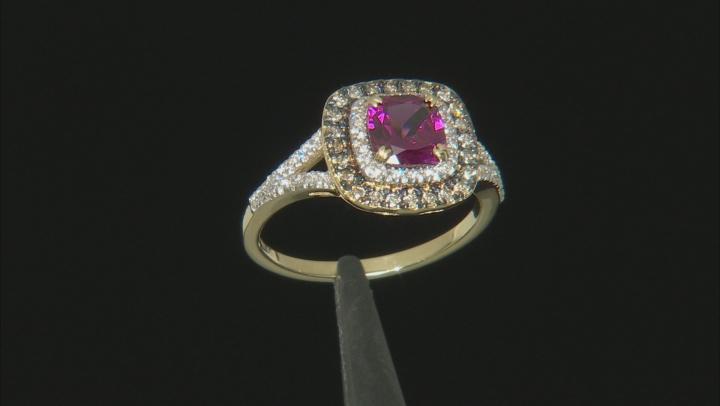 Grape Color Garnet 10k Yellow Gold Ring 1.76ctw