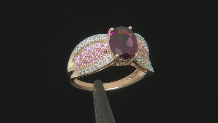 Purple Garnet 10k Rose Gold Ring 2.42ctw