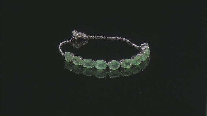 Green Mint Kyanite 10k White Gold Bracelet 12.04ctw