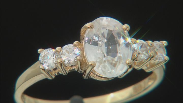 White Zircon 10k Yellow Gold Ring 2.86ctw