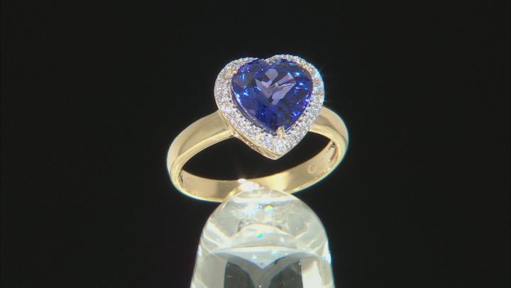 Blue Tanzanite 18k Yellow Gold Ring 2.72ctw