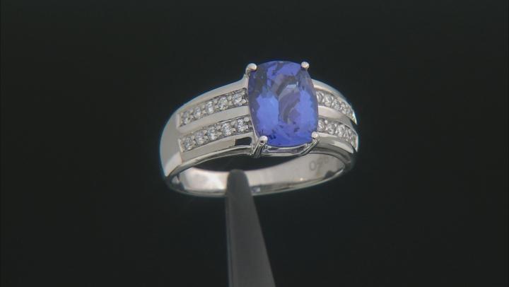 Blue Tanzanite Platinum Ring 2.44ctw