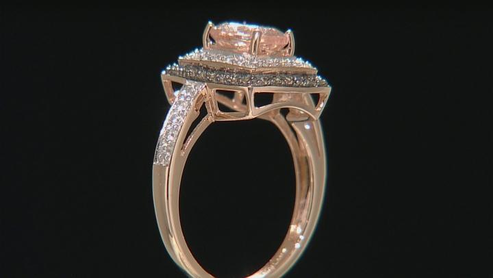 Pink Morganite 10k Rose Gold Ring 1.82ctw