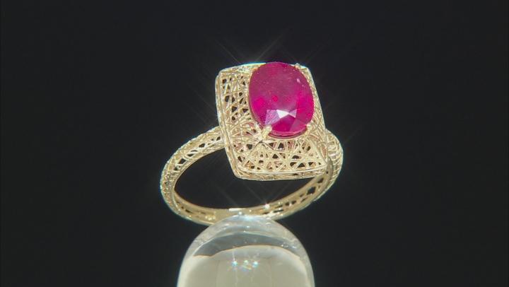 Mahaleo ® Ruby 10k Yellow Gold Ring 2.06ct