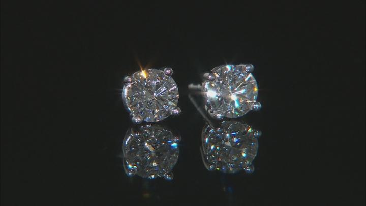 White Lab-Grown Diamond 14K White Gold Stud Earrings 1.00ctw