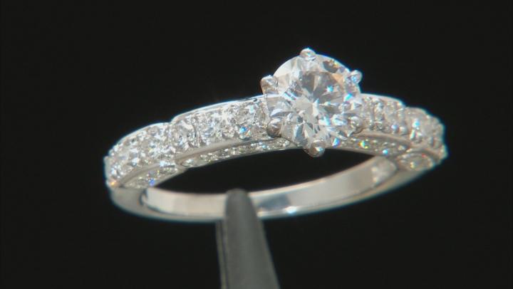 White Lab-Grown Diamond 14K White Gold Ring 1.72ctw