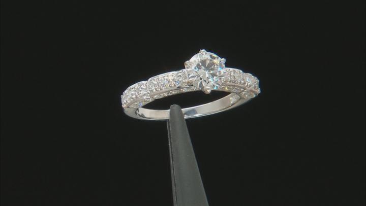 White Lab-Grown Diamond 14K White Gold Engagement Ring 1.72ctw
