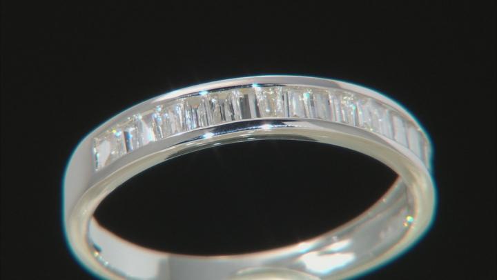 White Lab-Grown Diamond 14k White Gold Band Ring 0.70ctw