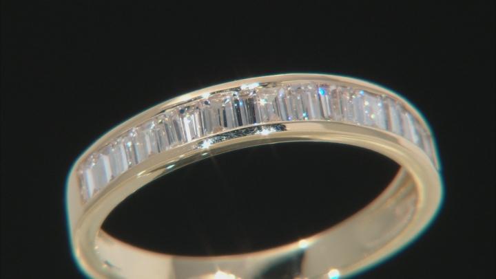 White Lab-Grown Diamond 14k Yellow Gold Band Ring 0.70ctw
