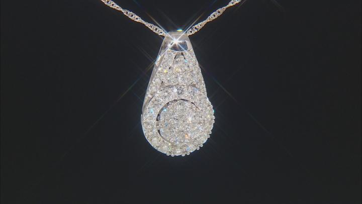 White Lab-Grown Diamond 14K White Gold Pendant With Chain 1.50ctw