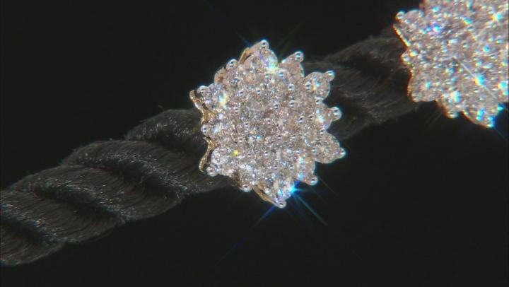 White Lab-Grown Diamond 14K Yellow Gold Earrings .50ctw