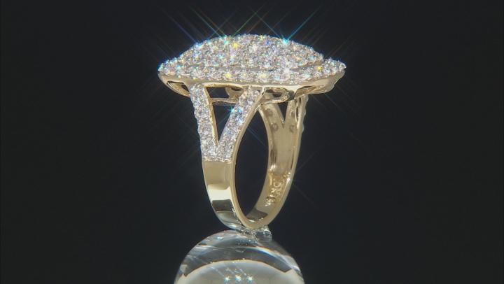 White Lab-Grown Diamond 14K Yellow Gold Ring 3.16ctw