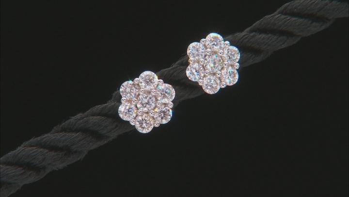 White Lab-Grown Diamond 14K Yellow Gold Earrings .60ctw