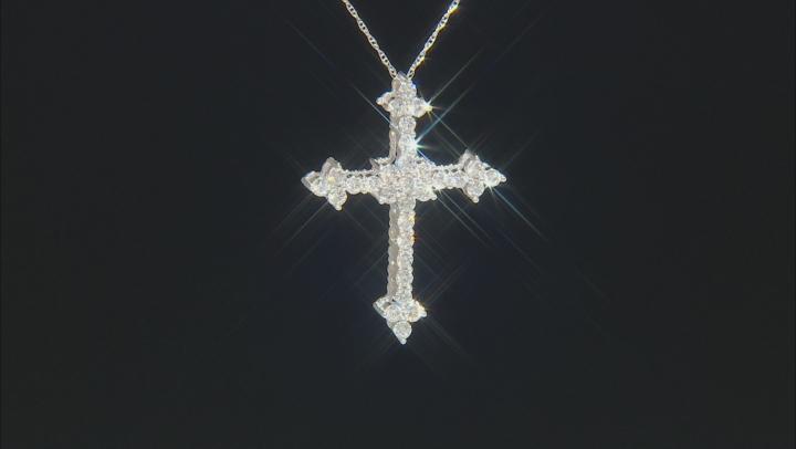 White Lab-Grown Diamond 14K White Gold Pendant .93ctw