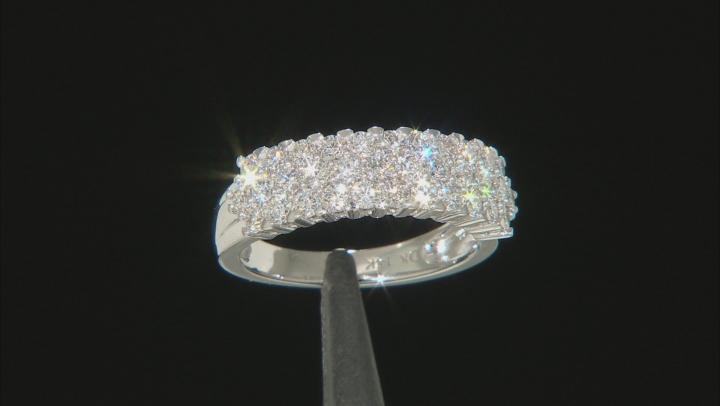 White Lab-Grown Diamond 14K White Gold Band Ring 1.06ctw