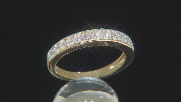 White Lab-Grown Diamond 14K Yellow Gold Ring .54ctw