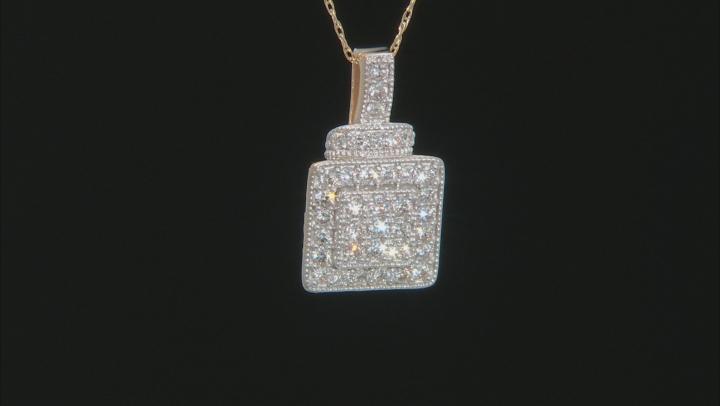 White Lab-Grown Diamond 14K Yellow Gold Pendant .49ctw