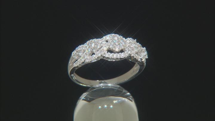 White Lab-Grown Diamond 14K White Gold Ring .60ctw