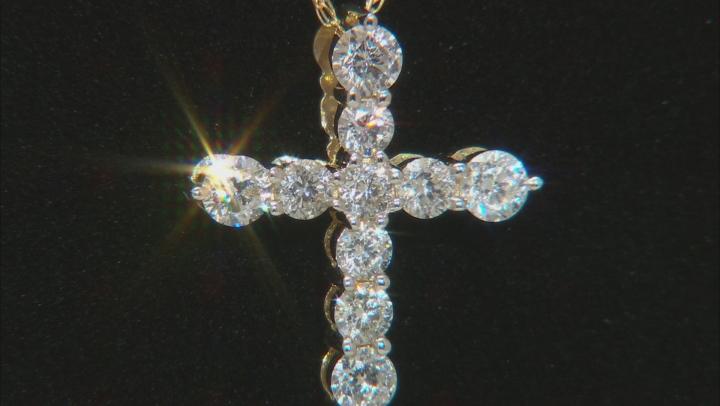 White Lab-Grown Diamond 14K Yellow Gold Pendant With 18