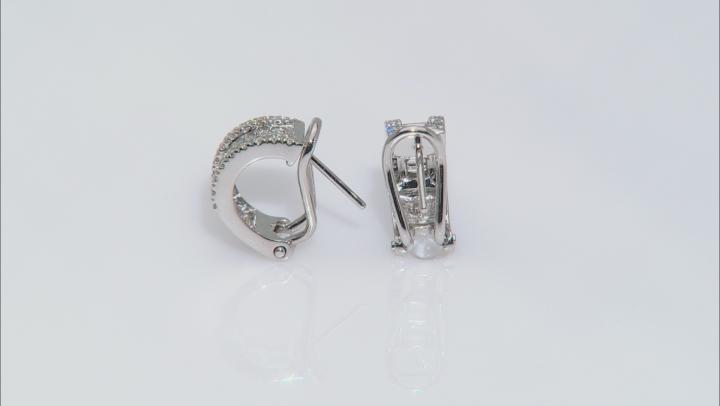 White Lab-Grown Diamond 14K White Gold Earrings 0.88ctw