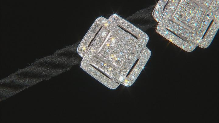 White Lab-Grown Diamond 14K White Gold Earrings 1.06ctw