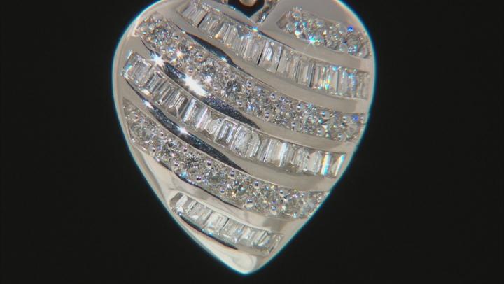 White Lab-Grown Diamond 14K White Gold Pendant 0.62ctw