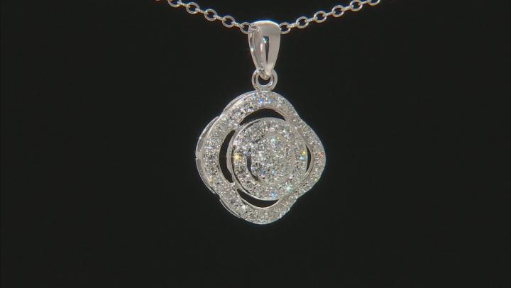 White Lab-Grown Diamond 14K White Gold Pendant 0.50ctw