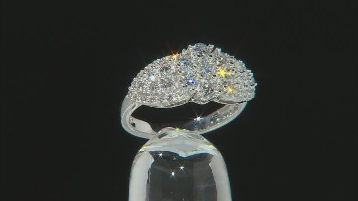 White Lab-Grown Diamond 14K White Gold Ring 1.31ctw