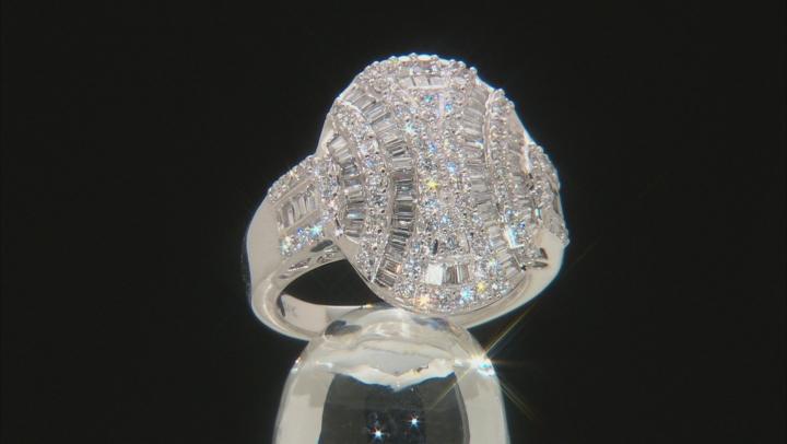 White Lab-Grown Diamond 14K White Gold Ring 1.38ctw